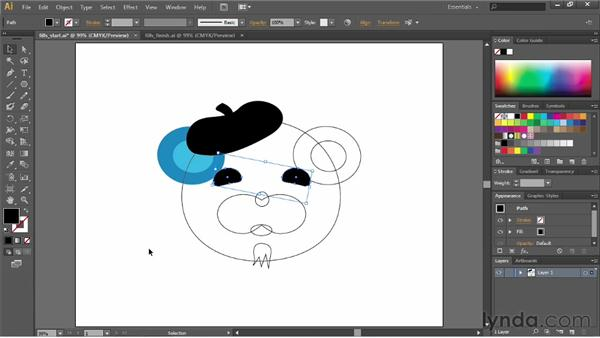 Working with fills: Illustrator CC Essential Training (2013)