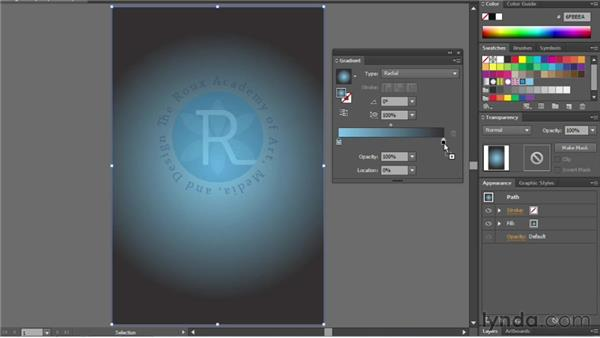 Creating and editing gradients: Illustrator CC Essential Training (2013)
