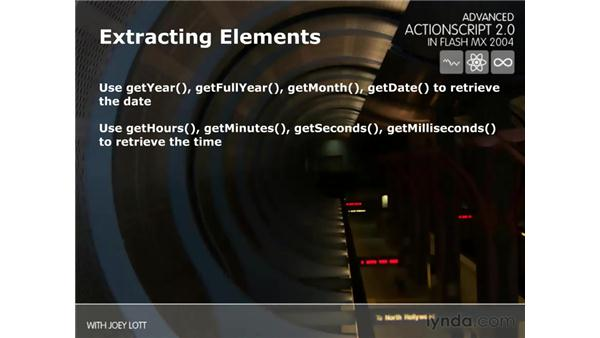 extracting dates: ActionScript 2.0 Beyond the Basics