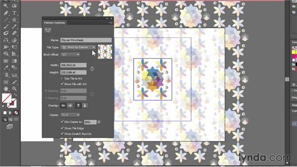 Applying and editing pattern fills: Illustrator CC Essential Training (2013)