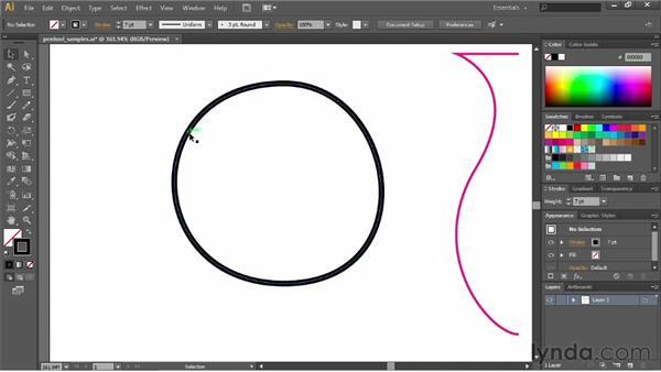 Using Pen tool keyboard shortcuts: Illustrator CC Essential Training (2013)