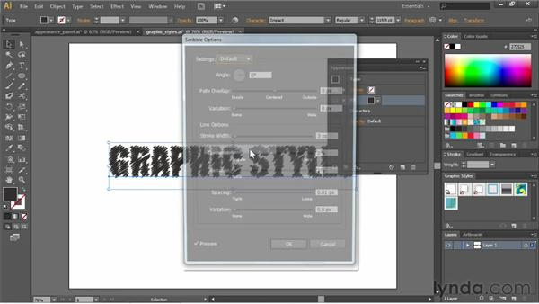 Saving appearances as graphic styles: Illustrator CC Essential Training (2013)