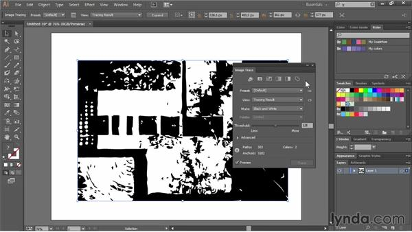 Exploring the Image Trace panel: Illustrator CC Essential Training (2013)