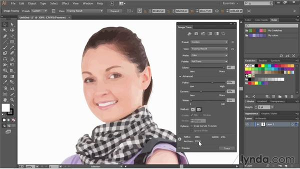 Tracing photographs: Illustrator CC Essential Training (2013)
