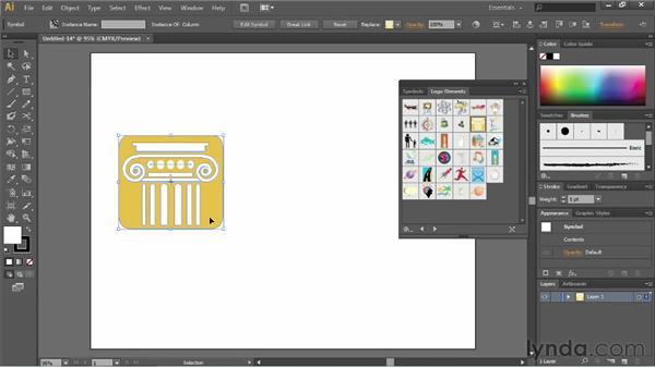 Using prebuilt symbols: Illustrator CC Essential Training (2013)