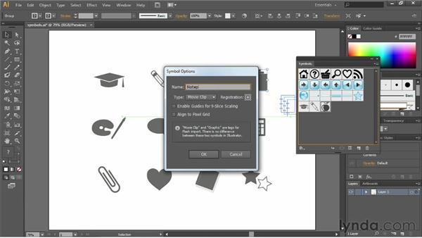 Creating new symbols: Illustrator CC Essential Training (2013)