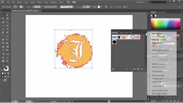 Redefining symbols: Illustrator CC Essential Training (2013)