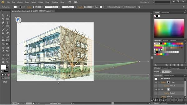 Drawing artwork in perspective: Illustrator CC Essential Training (2013)