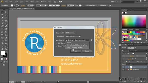 Creating high-res bitmap images: Illustrator CC Essential Training (2013)