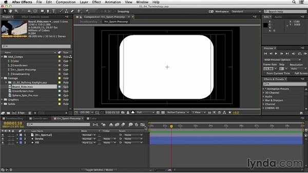 Video terminology: After Effects CC Essential Training