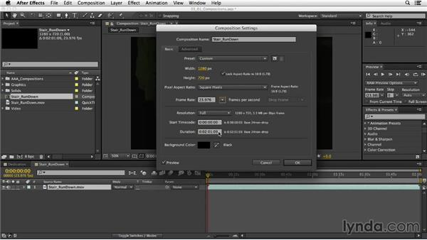 Exploring composition and project settings: After Effects CC Essential Training