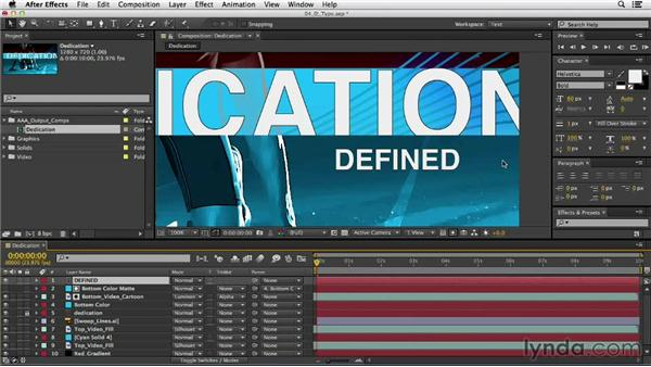 Creating type layers: After Effects CC Essential Training