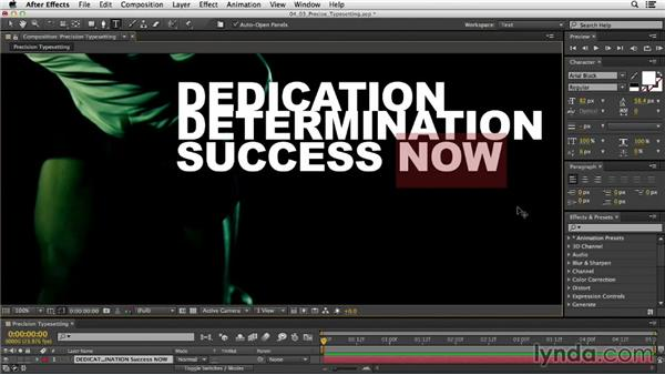 Precise typesetting techniques: After Effects CC Essential Training