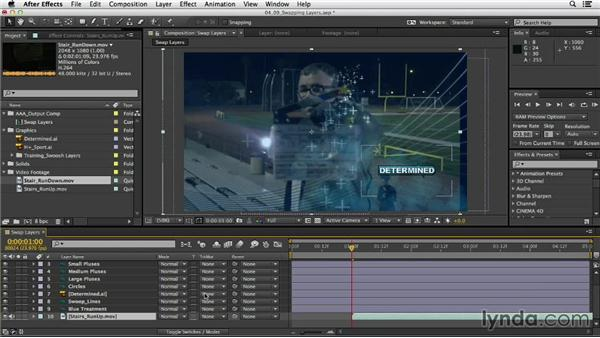 Working smarter by swapping layers: After Effects CC Essential Training