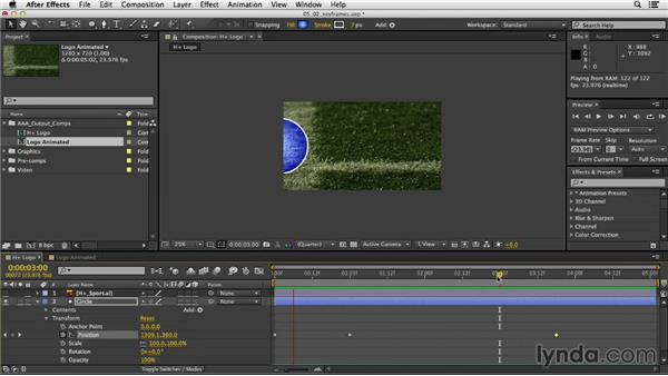 Adding and adjusting keyframes: After Effects CC Essential Training