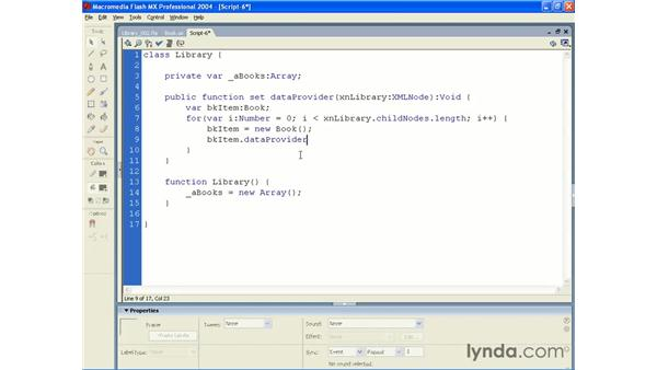 library application pt 3: ActionScript 2.0 Beyond the Basics