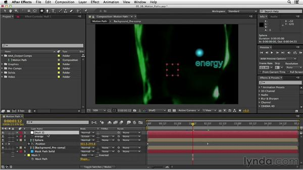 Creating and adjusting motion paths: After Effects CC Essential Training