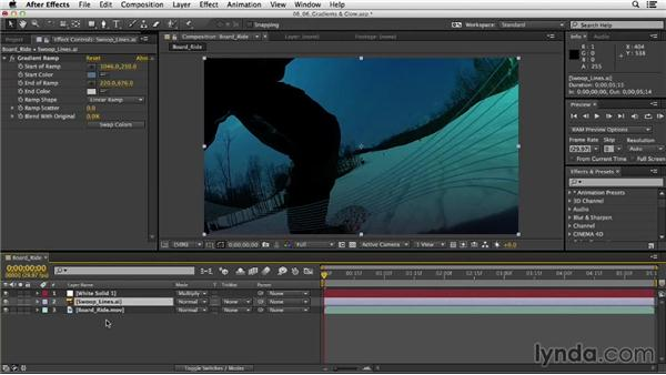 Adding gradients and glows: After Effects CC Essential Training