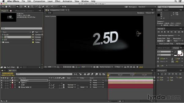 Understanding 3D in After Effects: After Effects CC Essential Training