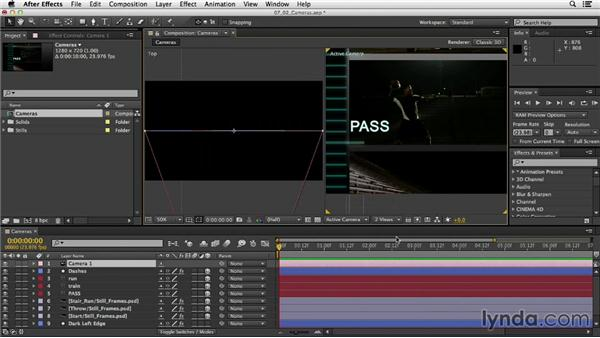 Intro to cameras: After Effects CC Essential Training