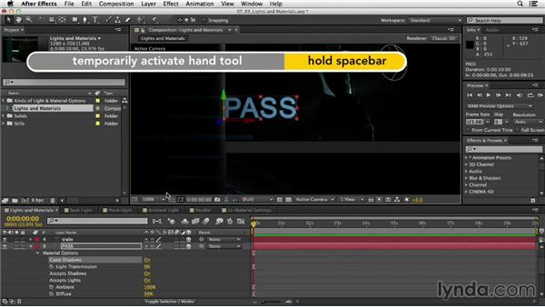 Intro to lights and material options: After Effects CC Essential Training
