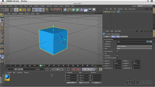 Understanding the CINEMA 4D Lite interface: After Effects CC Essential Training