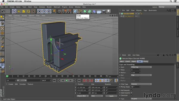 Exploring modeling in CINEMA 4D Lite