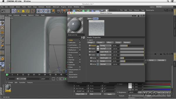 Looking at detailed materials: After Effects CC Essential Training