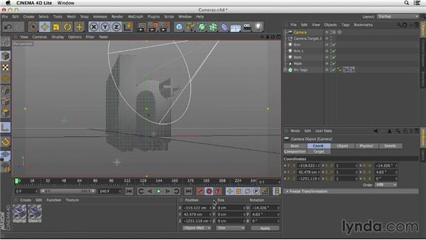 Animating cameras in CINEMA 4D Lite: After Effects CC Essential Training
