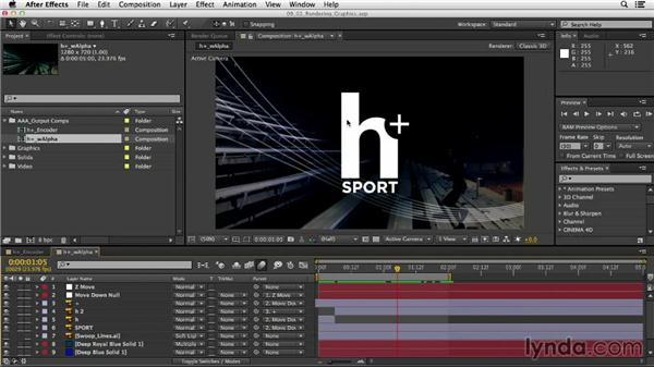 Recommended settings for rendering graphics: After Effects CC Essential Training
