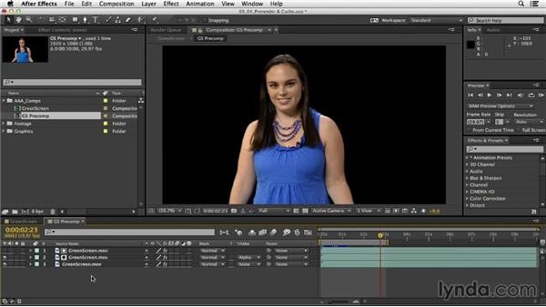 Prerendering with Import and Replace Usage: After Effects CC Essential Training