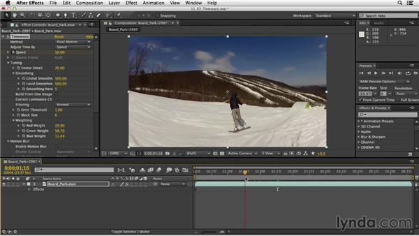 Retiming footage with Timewarp: After Effects CC Essential Training