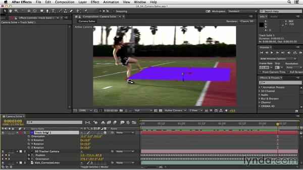 Solving cameras: After Effects CC Essential Training