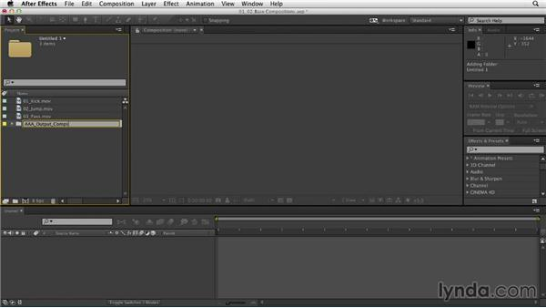 Building the base compositions: Mograph Techniques: Retiming and Tracking Footage