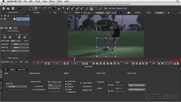 Tracking with mocha AE: Mograph Techniques: Retiming and Tracking Footage