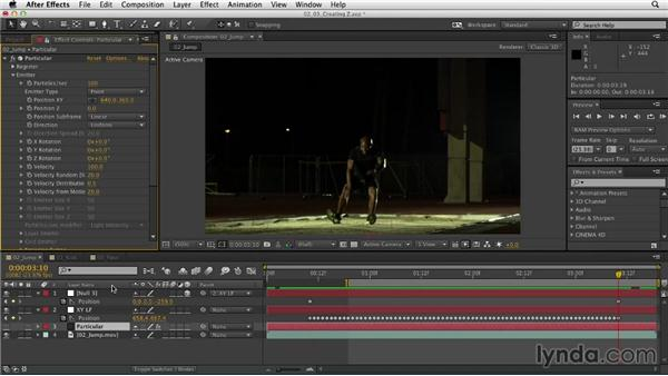 Creating 3D space from a 2D track: Mograph Techniques: Retiming and Tracking Footage