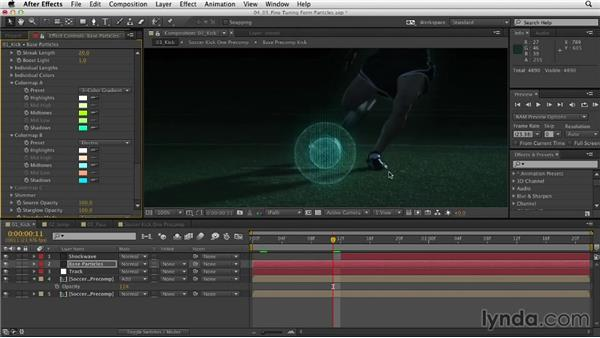 Fine-tuning the Form particles: Mograph Techniques: Retiming and Tracking Footage