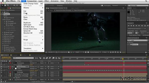 Continuing with fine-tuning: Mograph Techniques: Retiming and Tracking Footage