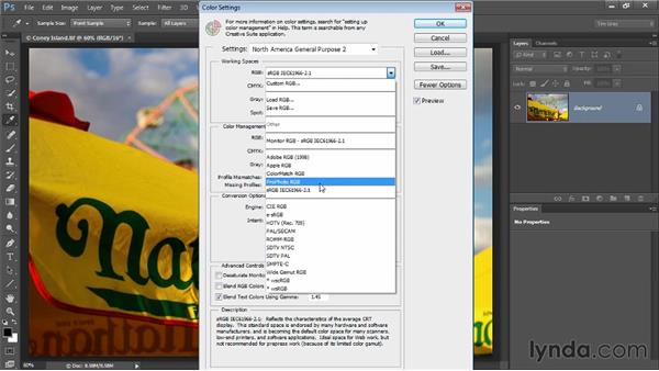 Color space and bit depth: Up and Running with Color Correction in Photoshop CC