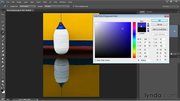 Color models and the color picker: Up and Running with Color Correction in Photoshop CC