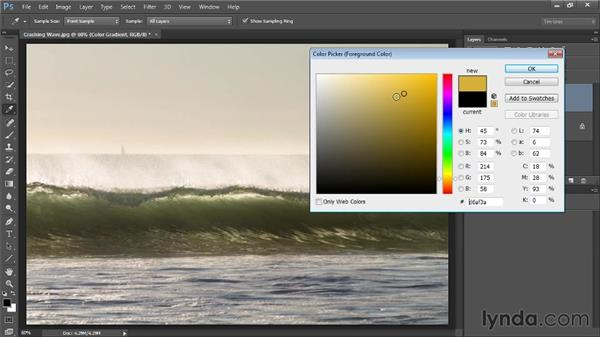 Adding a gradient of color: Up and Running with Color Correction in Photoshop CC