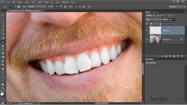Whitening and brightening: Up and Running with Color Correction in Photoshop CC