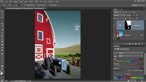 Selection-based targeted color correction: Up and Running with Color Correction in Photoshop CC