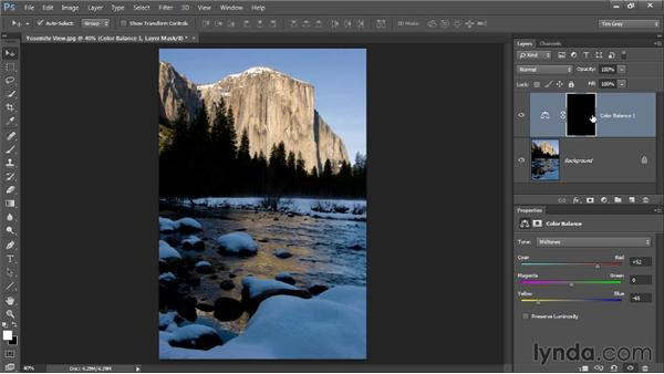 Warming up shadows: Up and Running with Color Correction in Photoshop CC