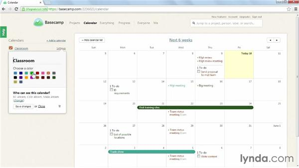 Using a calendar for scheduling: Learning Basecamp 2