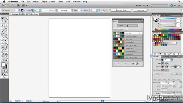 Accessing Kuler from within Illustrator: Illustrator Insider Training: Coloring Artwork