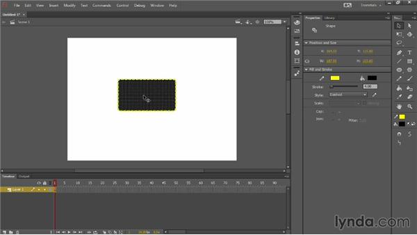 Modifying the workspace: Up and Running with Flash Professional CC