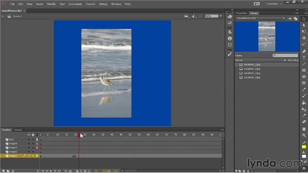Introducing the Timeline, frames, and keyframes: Up and Running with Flash Professional CC