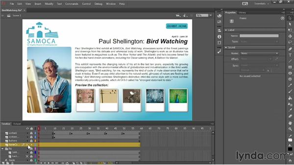Structuring text placement in a project: Up and Running with Flash Professional CC