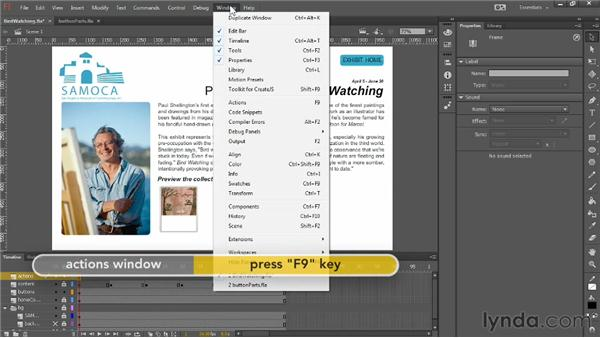 Adding buttons to a project: Up and Running with Flash Professional CC